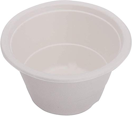 ECOWARE:100% Natural, Biodegradable, Compostable, Ecofriendly, Safe & Hygienic Disposable 340 ml Round Bowl (Pack of 50 Bowls)