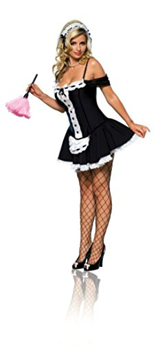 Rubies Womens Sexy Dust Bunny French Maid Upstairs Chamber Halloween Costume, Small (Upstairs Maid Costumes)