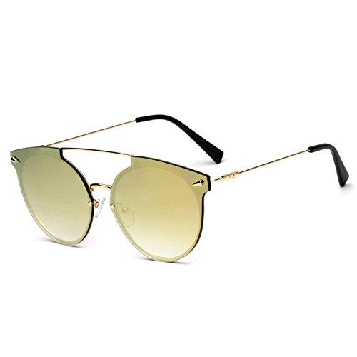 sol mujer d y b Gafas de sol de americano de para metal Opcional marco tendencia estilo multicolor RDJM Gafas europeo de EfgwRRI