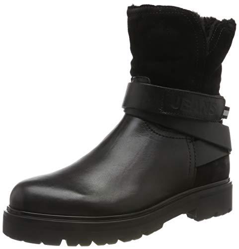 Tommy Hilfiger Damen Reflective Detail Biker Boot Stiefeletten, Schwarz (Black 990), 38 EU 1
