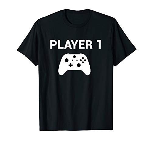 Player 1 Shirt Video Game Costume Gamer Tee Men Women Kids ()