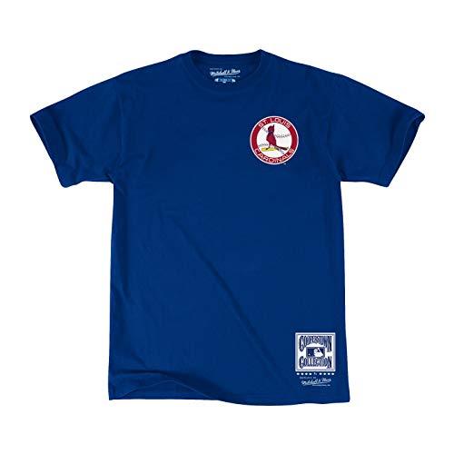 Mitchell & Ness St. Louis Cardinals Men's First Letter Short Sleeve T-Shirt (Large)