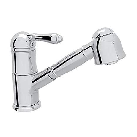 Rohl A3410lmapc 2 Italian Patrizia Single Lever Handle Pull Out Kitchen Faucet 0 In L X 2 8 In W X 7 8 In H Polished Chrome