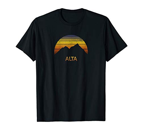 Shirt Alta Utah Ski Snowboard Fan Clothes Gift Camping Cool