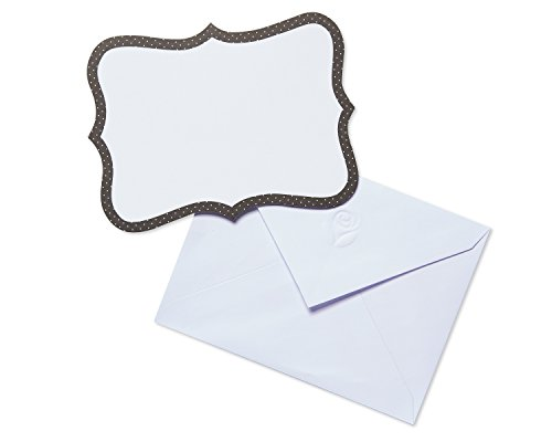 American Greetings Black and White Blank Note Cards, 20-Count