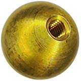 Three 3/4'' threaded 10-32 brass balls drilled tapped lamp finials