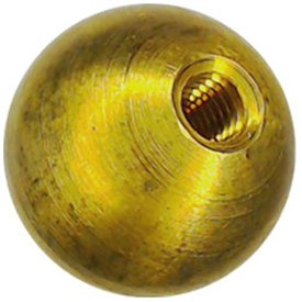 Three 3/4'' threaded 10-32 brass balls drilled tapped lamp finials by Bearing Ball Store