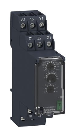 Schneider RE22R1MYMR Multi-function Timing Relay - 0.05s…300h - 24…240V AC/DC - 1C/O by Schneider (Image #1)