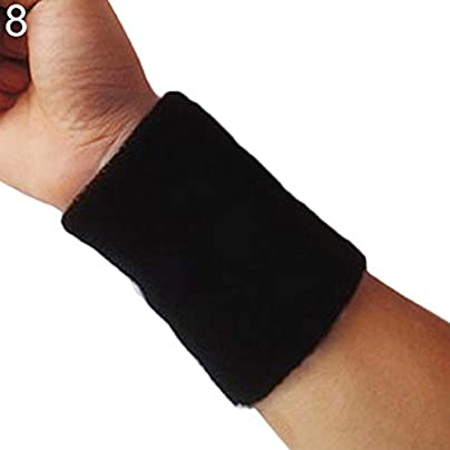 Sunonip Colors Wristband Sports Easy Dry Breathable Wrist Sweatband Sports Protection For Tennis Basketball Squash Badminton Gym Estimated Price £8.29 -