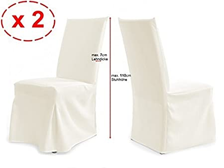 Choice of Colours Universal Paris Chair Covers Set of 2/ / cream