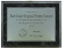 7 x 9 Black Marbleized Plaque with Engraved Silver Trimmed Aluminum Plate.