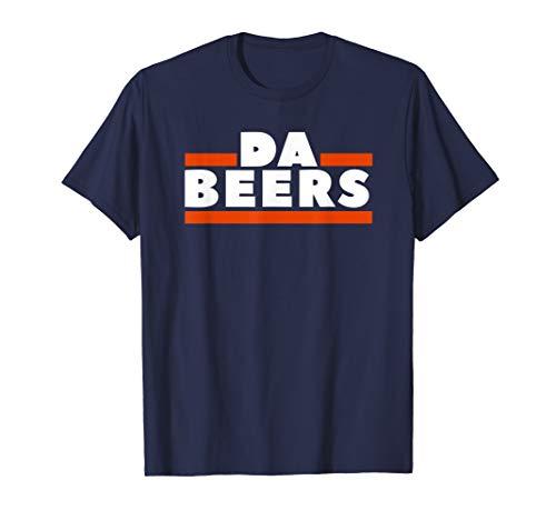 (DA BEERS Orange and Blue Drunk Funny T Shirt)
