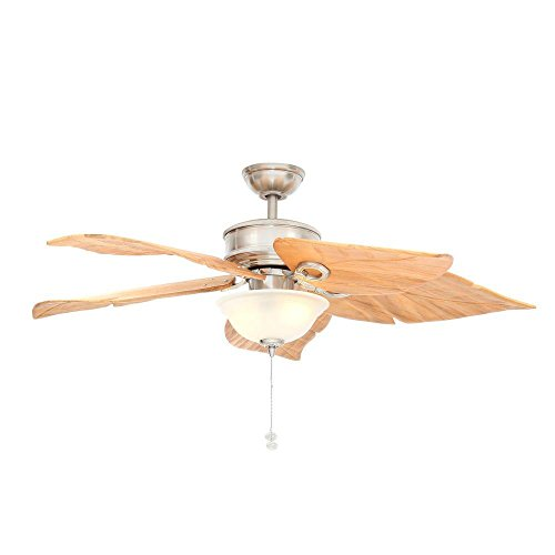 Hampton Bay Costa Mesa 56 In. Brushed Nickel Ceiling Fan