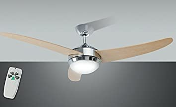 Plafoniere Con Pale : Ventilatore da soffitto con luce colore cromo e pale perenz
