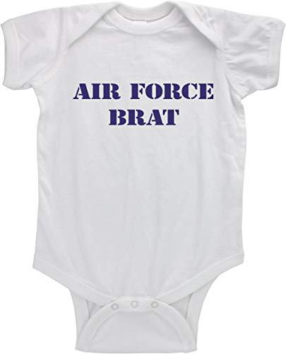 - USAMM Funny Air Force Brat Infant Bodysuit (6M, White/Blue)