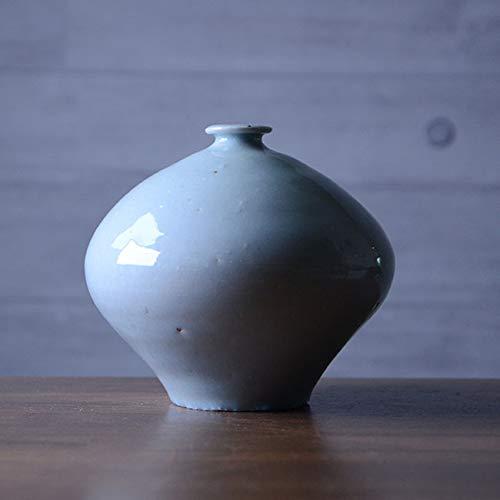灰青釉花器(MY-039) 作家「山本雅彦」 B07R7KM22C