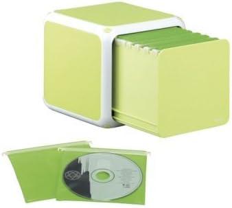 Beco CD-Box para 60 CDs con Cada 30 Colores Colgante Bolsillos para 2 CDs, ABS, Manzana Verde, Display-Caja: Amazon.es: Informática
