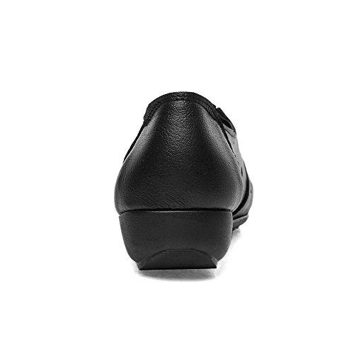 Agoolar diamante imitazione Punta Heel Women Toe chiusa Round con nero Mini 8Ar8B1qH