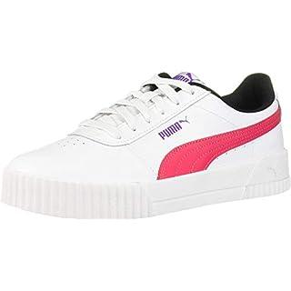 PUMA Women's Carina Sneaker White-Nrgy Rose, 8.5 M US