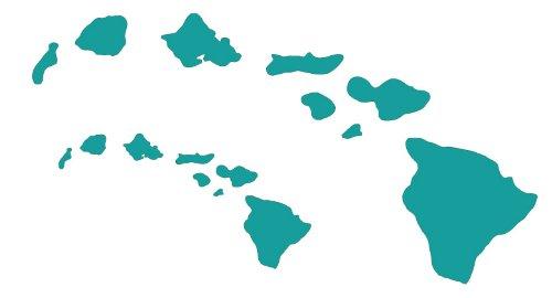 Hawaiian Island Chain Hawaii Stickers