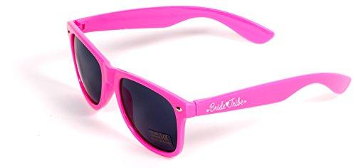 Bride Tribe Bachelorette Sunglasses in Neon Pink with White Bride Sunglasses (8 Piece - Sunglasses Neon 1 Hour
