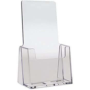 New Fashion Promotion Four Pockets Clear Desktop Office Counter Acrylic Business Card Holder Stand Display Fit For Office School Best Possessing Chinese Flavors Card Holder & Note Holder