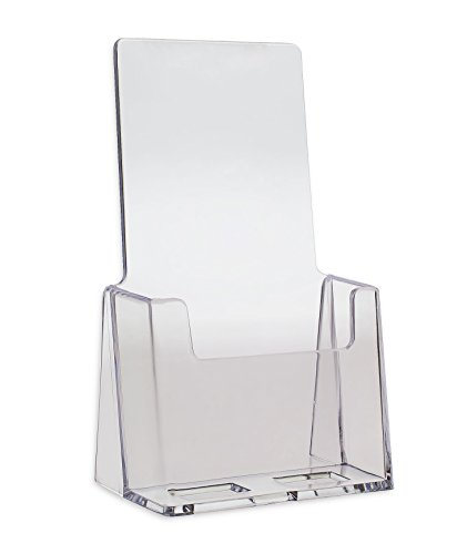 Source One Premium Counter Top Trifold 4-Inch Wide Acrylic Brochure Holder (S1-CT-TRI)