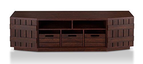 HOMES: Inside + Out YNJ-1572C6-TV Gammon TV Stand, Vintage Walnut