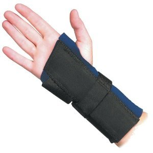 Trainer's Choice Wrist Brace with Double Aluminum Stays Thumb Enclosed, Left, X-large