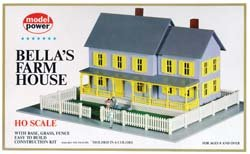 Model Power HO Scale Building Kit - Bella's Farm (Farm Model)