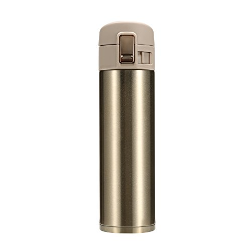 16 Ounces Stainless Steel Double Wall Vacuum Insulated Travel Mug Beverage Coffee Water Bottle 500ML (golden)