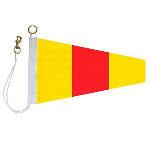 '0' International Code Signal Pennants (No. 3: 1-1/3 ft. x 3 ft.) (Hook Signal Flag)