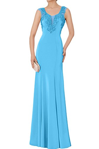 para Topkleider Azul trapecio Vestido mujer xwYqwHF8