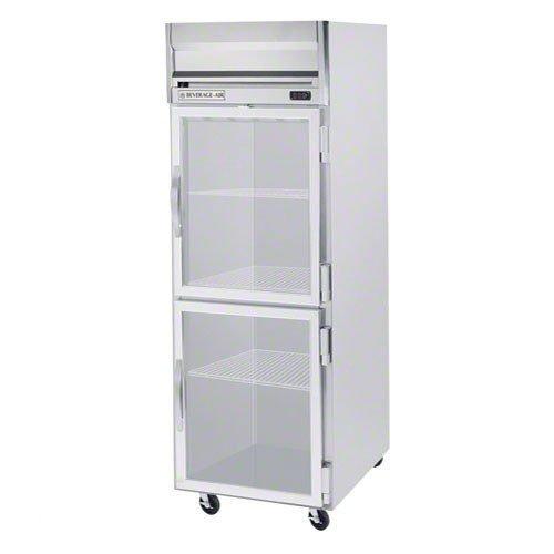 Beverage-Air Commercial Freezer Reach-In 1-Section Half Door Glass Top Mount Hf1-1Hg