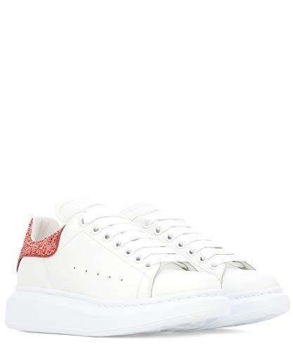 Sneakers Pelle Donna Alexander Mcqueen 558945whtqi9097 Bianco 5xYvUaw