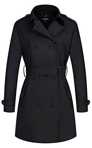 Wantdo Women's Windbreaker Dress Coat Long Trench