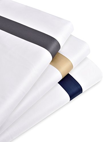 Band Pillow (400 Thread Count King Size Sheet Set Camel, Aurora Collection White Ground Color Premium Long-Staple Cotton Sateen Applique Hotel Collection Bed Covers By True Soft Beddings)