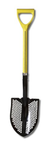 "Nupla 72021 Round Point Mud Shovel with Heavy Duty Hollow Back Blade and D Grip, 27"" Ergo Handle"