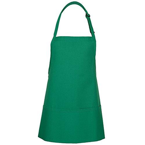 Green Kitchen Apron - Fame Adult's 3 Pocket Bib Apron-Kelly Green-O/S
