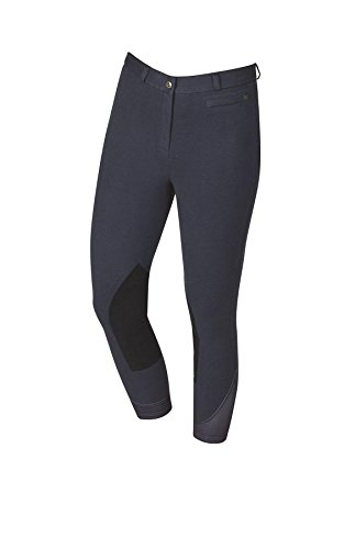 Dublin Supa-Fit Zip up Suede Knee Patch Breeches Blue Ladies 8/26