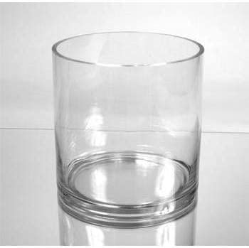 WGV Internatonal Clear Glass 7-inch x 7-inch Cylinder Vase