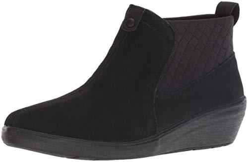 Foam Wolverine Boot (Grasshoppers Women's Porter Boot Suede Mule, Black, 9.5 W US)