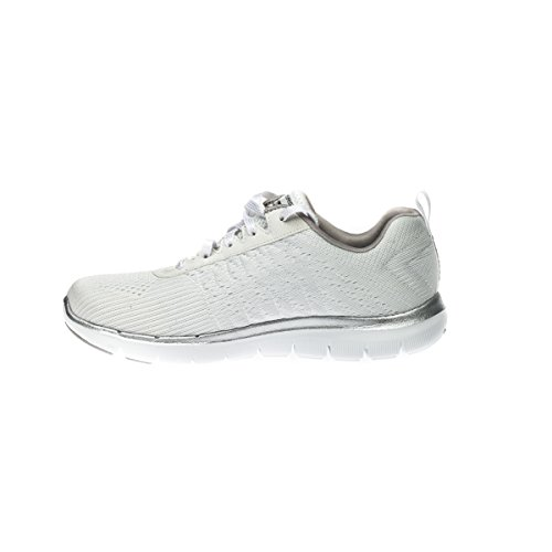 Skechers , Damen Sneaker mehrfarbig Weiß / Silber