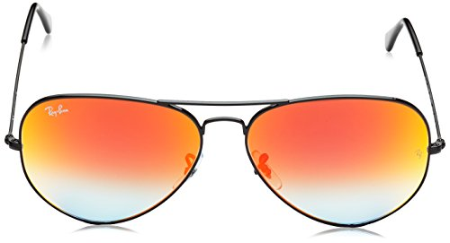 Aviator Shiny Shiny Lunettes Red Black mm Aviator Gradient 55 Ray RB3025 Mirror Soleil de Metal Ban Black p4F7wgqvf