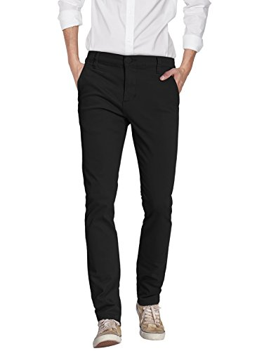 ETHANOL Mens Super Stretch Slim Fit Trousers Pants APL44816T Black 32