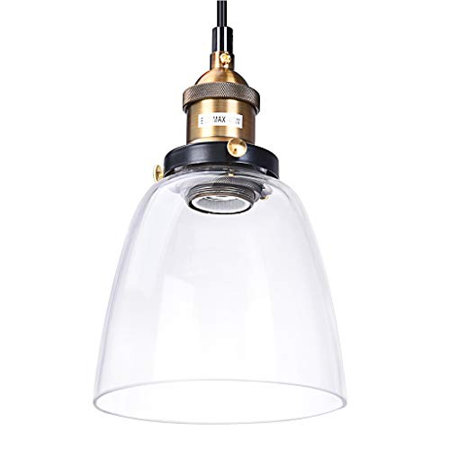 Iusun Hanging Ceiling Lamp Shade Vintage Edison Industrial Retro Loft Glass Pendant Light -Light Source:LED Bulb/Edison Bulb(Does Not Include Bulbs)-for Home Holiday Party Decor - Ship From USA (A) (Mount Outdoor Pendant 7)