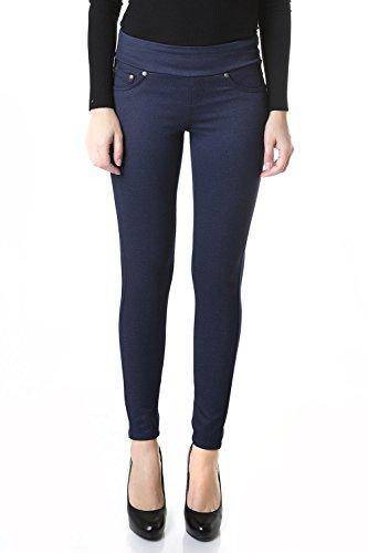 Suko Womens's Stretch Ponte Knit Skinny Pants 18245 Navy (Ponte Knit Skinny Pant)