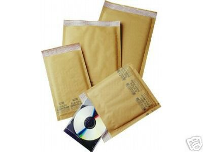 50 Piece Variety Pack * Bubble Mailers * 5 Sizes