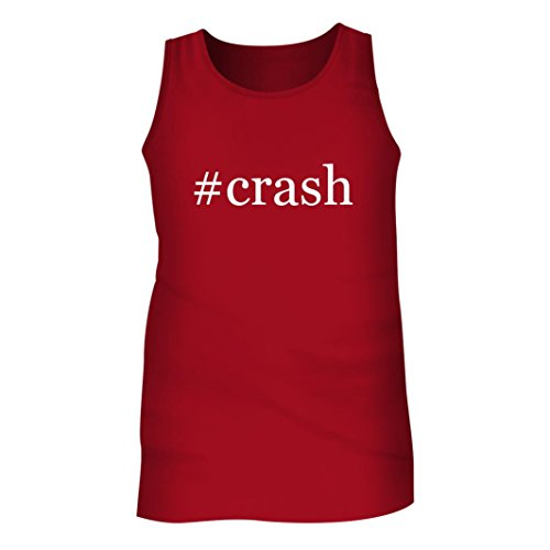 Tracy Gifts #Crash - Men's Hashtag Adult Tank Top, Red, Large -