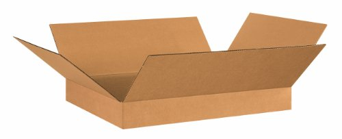 "Aviditi 26204 Flat Corrugated Box, 26"" Length x 20"" Width x"